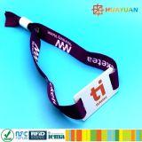 Wristband tecido 1K clássico esperto do festival RFID MIFARE