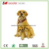 Собака Polyresin с статуями малышей для домашних орнаментов украшения и сада