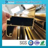 Profil en aluminium de l'Afrique du Nord pour le cadre de tissu pour rideaux de guichet avec la couleur personnalisée