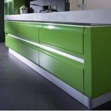 주문을 받아서 만들어진 현대 디자인 녹색과 백색 높은 광택 래커 부엌 찬장