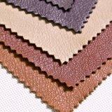 Couro Finished do PVC do plutônio do Synthetic para a mobília, sapata, bolsas