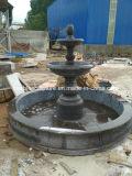 Fuente de piedra negra del mármol de la escultura de Grantie (SY-F300)