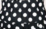 2017 de Nieuwste Rok van het Strand van het Af:drukken van de Punten van de Kleding van het Ontwerp van de Vrouw Zwart-witte Lange