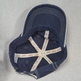 Gorra de béisbol de algodón azul con bordados en 3D