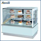 Refroidisseur électrique d'étalage de gâteau de Cln1500 Galss