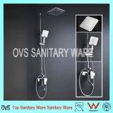 Conjunto termostático de la ducha de lluvia del cuarto de baño del precio de fábrica con la ducha de la mano