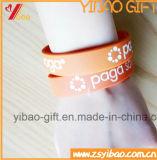 Kundenspezifische orange Farben-weicher Silikon Wrisband Gummi (YB-HD-61)