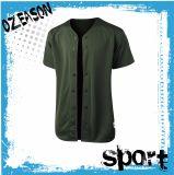 Baseball Jersey (B007) dell'esercito di verde della pianura degli uomini alla moda del palangaro