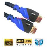 Hochgeschwindigkeits-HDMI Kabel, Stütz-Ethernet, 3D, Rückkehr des Audios-4k, 2160p