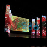 P7.62 vervollkommnen Anblick-Effekt-farbenreiche Miete LED-Innenbildschirmanzeige