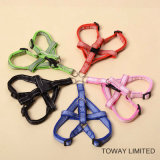 Knitting Nylon Quality Pet Leash Chien ajustable Harness Lead