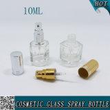Роскошная пустая ясная стеклянная косметика 10ml бутылки дух брызга