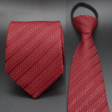 Gravata vermelha tecida jacquard, laço de seda por atacado da garganta (A019)