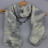 Bequemer Voile-Schal, 100% Polyester-Schal, Form-Zusatzgeräten-Schals