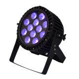 12X12W RGBWA屋外の洗浄IP68のための紫外線LEDの細い同価の段階ライト