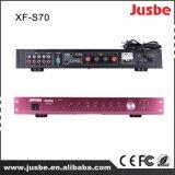 統合されたJusbe S-70 65W 8ohm 4のスピーカーリンクマルチメディアはマイクロフォンインターフェイス安い価格のデジタル可聴周波アンプに動力を与えた