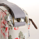 (99032-5) Floral Waterproof PVC Canvas Leisure Women Bag
