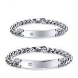 Bracelete luxuoso do aço inoxidável da forma 316L dos pares para amantes