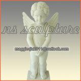 Fontane di parete del giardino dell'acqua bianca con il bambino Mf1707 di angelo