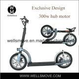 Wellsmoveの新しいデザイン電気スクーターの移動性300Wを折る軽量の個人的な交通機関の手段