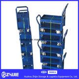 Azul Capa Doble Estándar Plataforma carretilla