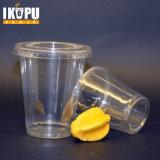 Copo plástico desobstruído com o copo pequeno descartável do molho do animal de estimação da tampa com tampa