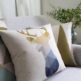 Подушки акцента допустимый хлопка Linen декоративные для декора кресел