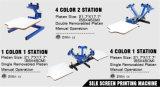 4 impresora de la pantalla de la prensa de la serigrafía de la investigación de seda de la estación del color 2