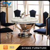 Jantando redonda restaurante da mobília com parte superior de mármore