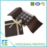 チョコレートのための贅沢な絹のリボンのペーパーギフト用の箱