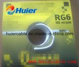 Câble chaud de TV satellite de câble de transmission de la vente RG6/U (écran protecteur normal)