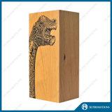 Rectángulo de madera del estilo natural para el vino y almacenaje y regalo (HJ-PWSY02)