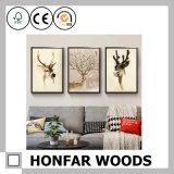 Wall Art Black Wooden Picture Picture para Decoração