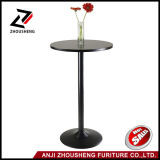 Winsome Obsidian Pub Bar Table Round Black MDF Top com perna e base pretas