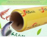 El PVC de empaquetado suave de la película de estiramiento se aferra película para el abrigo del alimento