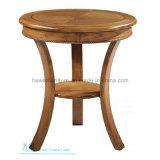 Таблица твердой древесины способа круглая обедая для кафа трактира (HW-1133T)