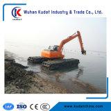 Máquina escavadora anfíbia com o pontão na água (K80SD)