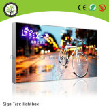 Publicidad del rectángulo ligero de la tela LED de Frameless