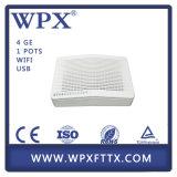4LAN (1GE+3FE) + 2FXS + 300Mbps WiFi Gepon ONU Ontario