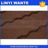 Tipo schiavo mattonelle del peso leggero di tetto rivestite del metallo della pietra variopinta