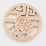 Монетка китайского типа с камнями приспосабливать ювелирные изделия способа Locket привесные