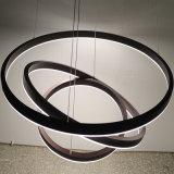 Lâmpada acrílica de alumínio decorativa redonda do pendente da trilha do globo três