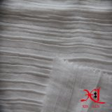 White Jacquard Silk Chiffon Fabric Wrinkle for Dress