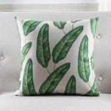La selva tropical del verde de la vendimia del caso de la cubierta de la almohadilla sale de la almohadilla del amortiguador