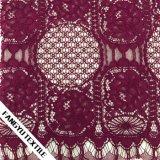 Cotone elegante del fiore/tessuto di nylon del merletto per l'indumento