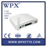 WiFi Gpon ONU 4ge+2FXS+WiFi 호환성 Huawei Zte Ont