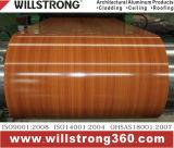 Bobine en aluminium enduite par couleur avec la configuration en bois des graines