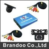 2 gravador de vídeo do cartão da canaleta 128GB SD