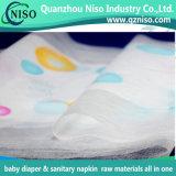 Tissu non-tissé de Backsheet de textile gravé en relief par modèle neuf pour les matières premières de couche-culotte de bébé