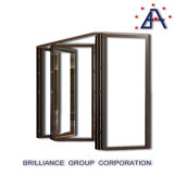 Portes Bi-Se pliantes des portes As2047 d'aluminium Non-Thermal Bifold en aluminium d'interruption